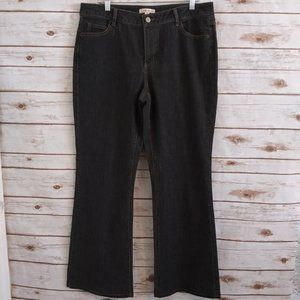 CAbi High Rise Flare Jeans Faded Black 14